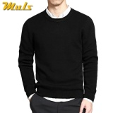 Jual Beli Online Sweater Pria O Neck Black Cotton Premium