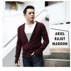 Jual Cepat Sweater Rajut Ariel Premium Maroon