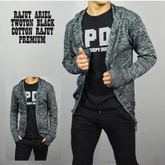 Spesifikasi Sweater Rajut Ariel Rajut Twoton Ariel Black Baru