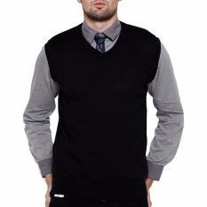 Spesifikasi Gomuda Sweater Rajut Pria Vest Hitam Terbaru