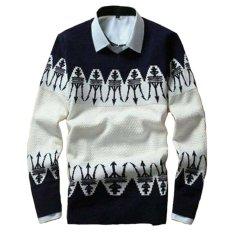 Promo Sweater Rajut Pria Keren Model Vintage Anchor Moon Navy Murah