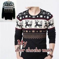Spesifikasi Sweater Rajut Pria Keren Model Vintage Deer Coco Man Lengkap Dengan Harga