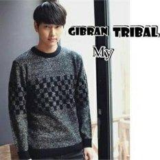 Sweater Rajut Pria Keren Model Vintage Gibran Tribal