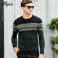 Spesifikasi Sweater Rajut Pria Keren Model Vintage Harfiz Tribal Green Online