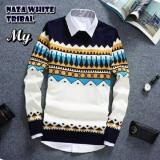 Top 10 Sweater Rajut Pria Naza Tribal White Online