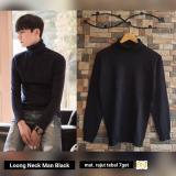 Spesifikasi Sweater Rajut Pria Pakaian Rajut Long Neck Man Black Lengkap