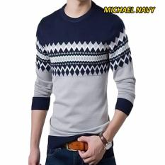 Sweater Rajut Pria Tribal  Michael Navy