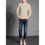 Spesifikasi Okechuku Vleur Sweater Rajut V Neck Polos Pria Krem Lengkap
