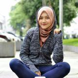 Spesifikasi Sweater Rajut Wanita Twotone Ariel Wanita Black Baru