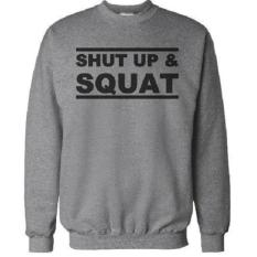 Sweater Shut Up A Squat Abu Abu Ogah Drop Diskon 40