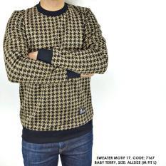 Beli Sweater Switer Motif Gambar Kotak Cowok Pria Yang Bagus