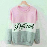 Spesifikasi Sweater Tebal Wanita Diff 3 Tones Warna Baju Hangat Kombinasi Warna Kaos Sweater Wanita Lengan Panjang Sweater Formal Kasual Jalan Different Gl Pink Abu Unicell Distro