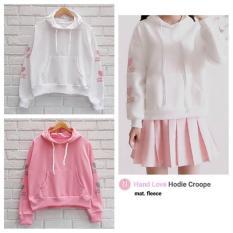 Beli Sweater Wanita F Jaket Hoodie Hand Love Hoodie Croope Online Terpercaya