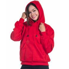 Toko Sweater Wanita Jaket Hoodie Jumper Polos Merah Termurah