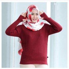 Promo Sweater Wanita Murah Roundhand Maroon