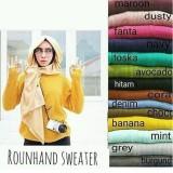 Cuci Gudang Sweater Wanita Rajut Roundhandsweater