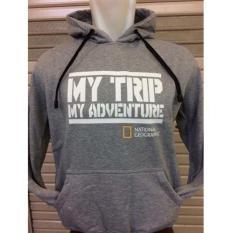 Sweaterjaket Hoodie Mtma Mt-161 My Trip My Adventure Abu-Abu Polos