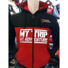 Sweaterjaket Hoodie Mtma Mt-421 Jumper My Trip My Adventures Kombinasi Hitam