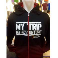 Sweaterjaket Hoodie Mtma Mt-721 My Trip My Adventure Gradasi Merah Resleting
