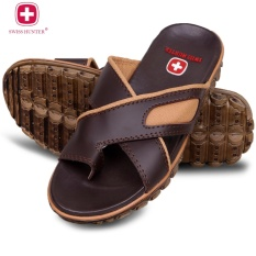 Kualitas Swiss Hunter Tactical Sandal Pria Brown Swiss Hunter