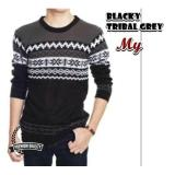 Harga Switer Rajut Blacky Tribal