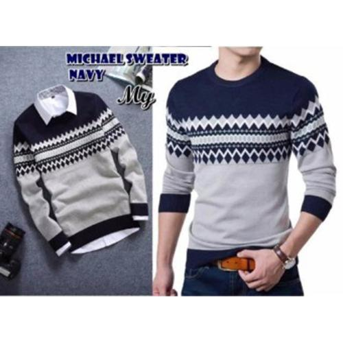 ... switer rajut michel navy