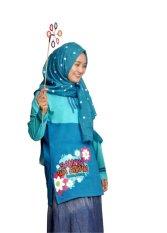 Beli Syamsakids Baju Anak Muslim Sl084D Hear And Obey Biru Murah Jawa Barat