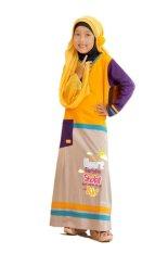 Spesifikasi Syamsakids Baju Muslim Anak Sl058 Gamis Heart Multicolor Lengkap