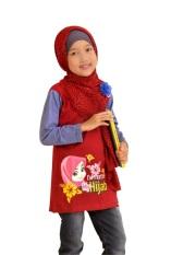 Jual Syamsakids Baju Muslim Anak Sl064 Pretty Hijab Merah Murah