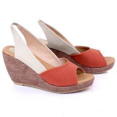 Syaqinah Sepatu Wedges Wanita 318 - Cream