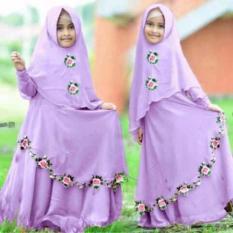 [Syari Anak Najwa Lavender SW] Baju Muslim Anak Perempuan Jersey Lave