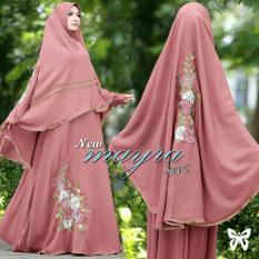 Diskon Lf Syari Syar I Maxi Ayra Jersey Premium Hijab Gamis Muslim Fashion Muslim Dress Maxi Yrama Ss Peach D2C Gamis