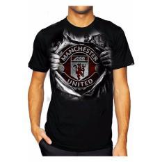 Spesifikasi Syiar Clothing Kaos Casual Distro Kaos Bola Mancheester Unitedd United Super Hitam Lengkap Dengan Harga
