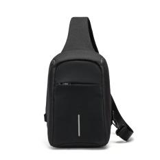 Toko Sywell Kasual Anti Pencurian Dada Bag Waterproof Crossbody Shoulder Bag Untuk Perjalanan Hitam Intl Online