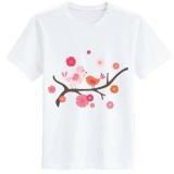 Sz Graphics Birds Tshirt Wanita Kaos Wanita T Shirt Fashion Putih Sz Graphics Diskon 50