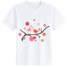 Jual Sz Graphics Birds Tshirt Wanita Kaos Wanita T Shirt Fashion Putih Branded Original