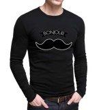 Harga Sz Graphics Bonjour T Shirt Long Sleeve Pria Kaos Lengan Panjang Pria T Shirt Pria Kaos Pria T Shirt Fashion Hitam Sz Graphics Ori