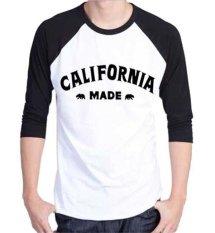 Sz Graphics California KAOS DISTRO/T Shirt Raglan 3/4 Pria Kaos Raglan 3/4 Pria T Shirt Pria Kaos P