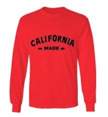 Katalog Sz Graphics California Made T Shirt Long Sleeve Pria Kaos Lengan Panjang Pria T Shirt Pria Kaos Pria T Shirt Fashion Merah Sz Graphics Terbaru