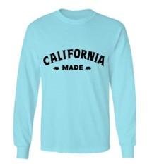 Spesifikasi Sz Graphics California Made T Shirt Long Sleeve Pria Kaos Lengan Panjang Pria T Shirt Pria Kaos Pria T Shirt Fashion Biru Beserta Harganya