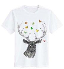 Promo Sz Graphics Deer T Shirt Wanita Kaos Wanita T Shirt Fashion Wanita T Shirt Kaos Distro Wanita Putih Di Dki Jakarta