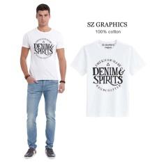 Beli Sz Graphics Denim Spirits T Shirt Pria Kaos Pria T Shirt Fashion Pria T Shirt Kaos Pria Putih Online Terpercaya