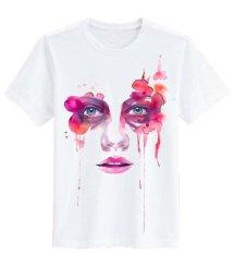 Spek Sz Graphics Fashion Face T Shirt Wanita Kaos Wanita T Shirt Fashion Wanita T Shirt Kaos Distro Wanita Putih Dki Jakarta