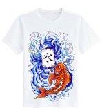 Jual Sz Graphics Fish Tattoo T Shirt Pria T Shirt Fashion Pria Kaos Pria T Shirt Kaos Distro Pria Putih Antik