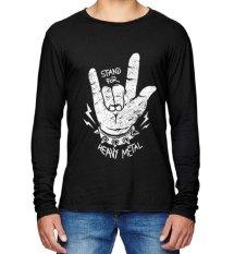 Jual Sz Graphics Heavy Metal T Shirt Pria Long Sleeve Hitam Sz Graphics Branded