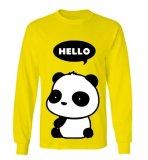 Review Sz Graphics Hello Panda T Shirt Long Sleeve Wanita Kaos Lengan Panjang Wanita T Shirt Wanita Kaos Wanita T Shirt Fashion Kuning Terbaru