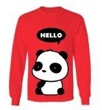 Spesifikasi Sz Graphics Hello Panda T Shirt Long Sleeve Wanita Kaos Lengan Panjang Wanita T Shirt Wanita Kaos Wanita T Shirt Fashion Merah Baru