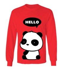 Sz Graphics Hello Panda T Shirt Long Sleeve Wanita Kaos Lengan Panjang Wanita T Shirt Wanita Kaos Wanita T Shirt Fashion Merah Dki Jakarta Diskon 50