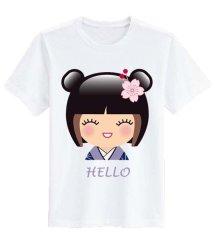 Beli Sz Graphics Hello T Shirt Wanita Kaos Wanita T Shirt Fashion Wanita T Shirt Kaos Distro Wanita Putih Online