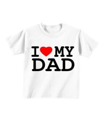 Review Sz Graphics I Love My Dad T Shirt Anak Kaos Anak T Shirt Fashion Anak Putih Sz Graphics